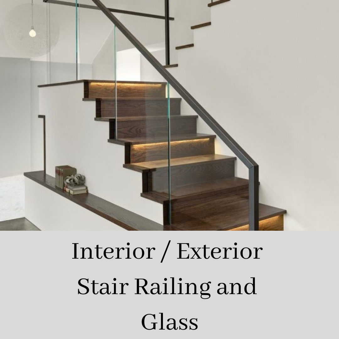 Interior Exterior Stair Railing and Glass
